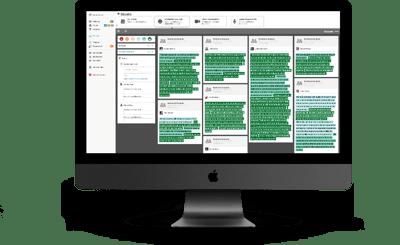 Computer screen showing Qualzy platform Sentiment System